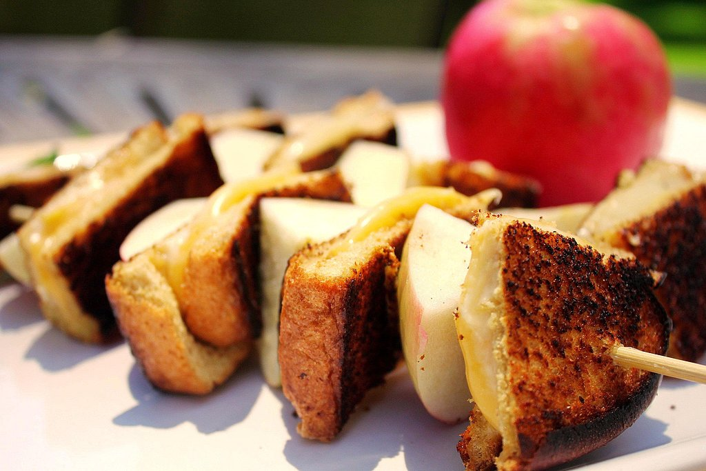 Grilled Cheese & Apple Skewers