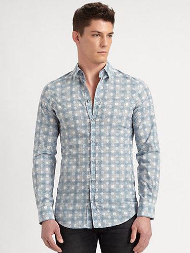 Dolce & Gabbana Dot Plaid Sportshirt