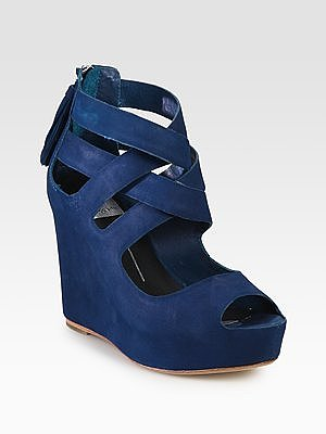 Colored Suede Wedges