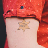 Sheriff Temporary Tattoos