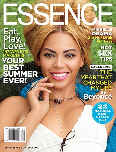 Beyoncé on the July 2011 cover of Essence.