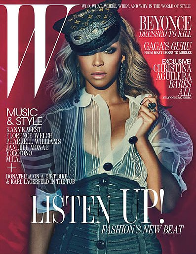 Beyoncé photographed by Patrick Demarchelier for the July 2011 cover of W.