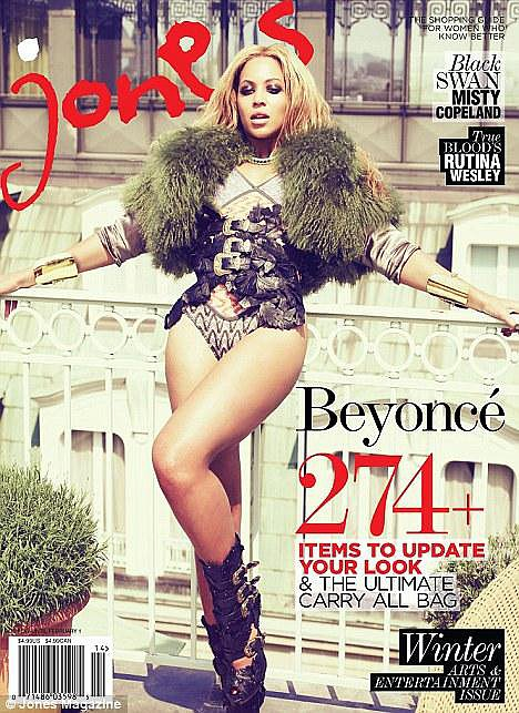 Beyoncé on the Winter 2011-12 cover of Jones magazine.