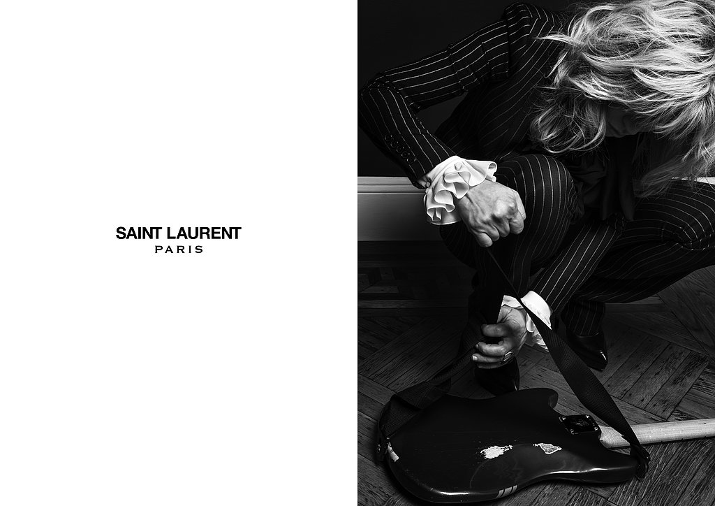 Courtney Love photographed by Hedi Slimane. Photo courtesy of Saint Laurent.