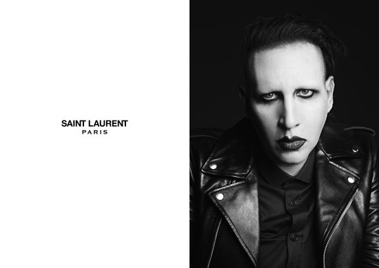 Marilyn Manson photographed by Hedi Slimane. Photo courtesy of Saint Laurent.