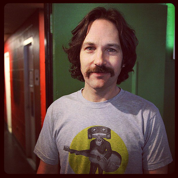 Paul Rudd took on a '70s-inspired look for his appearance on Conan. Source: Instagram user teamcoco