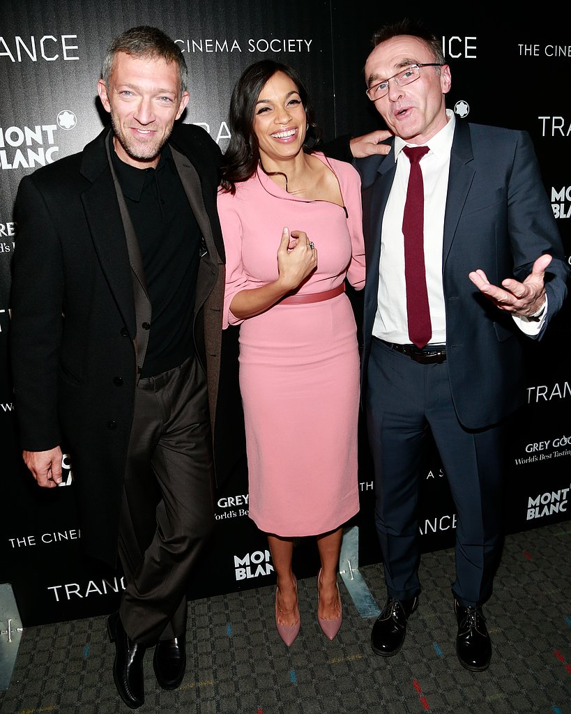 Rosario Dawson, Vincent Cassel, and Danny Boyle laughed at the premiere.