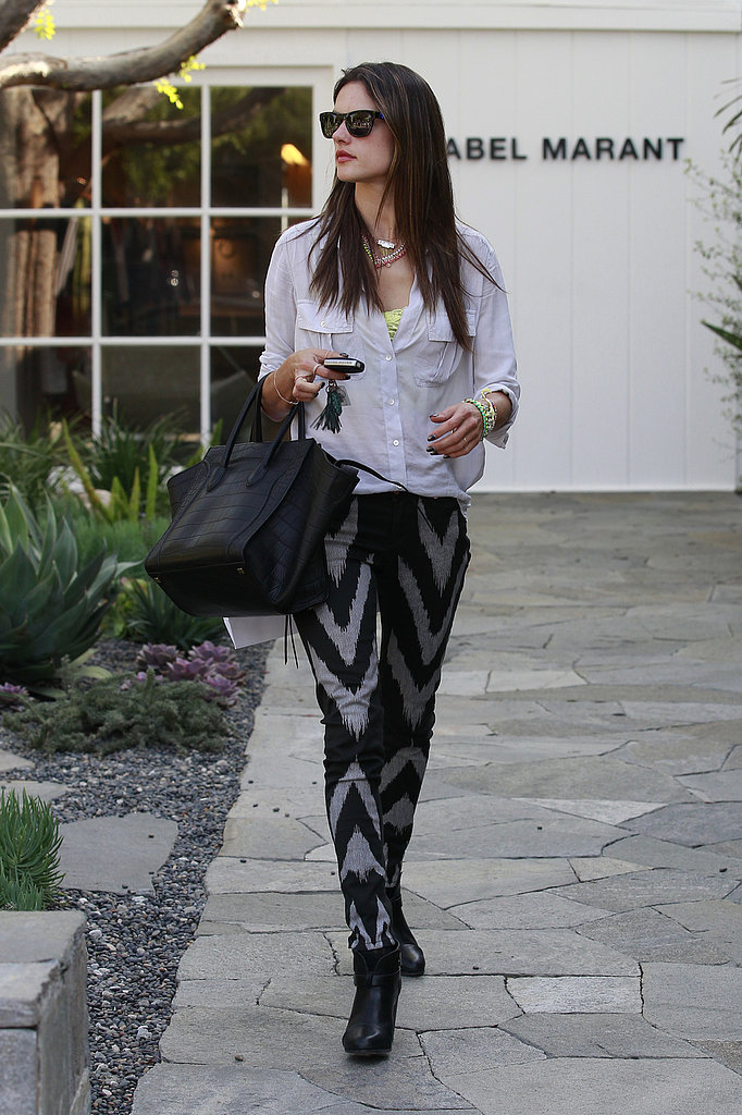 Alessandra Ambrosio checked out the Isabel Marant boutique in LA.