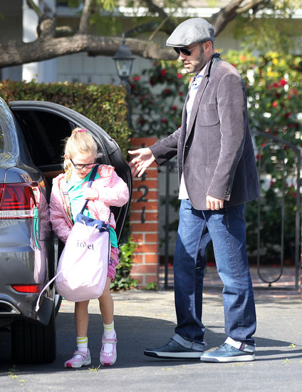 Ben Affleck made a stop with Violet in LA.