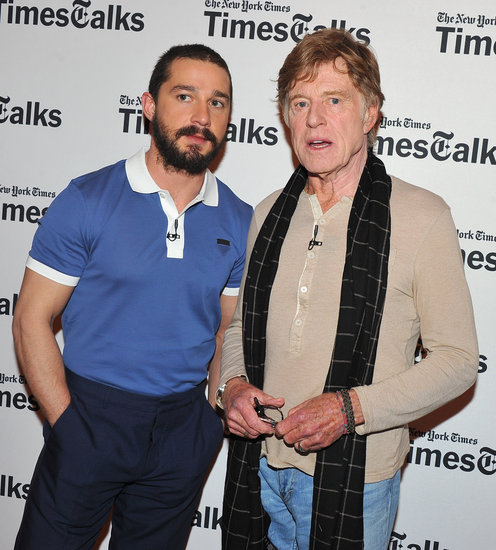 Injured Shia Teams Up With Robert Redford For TimesTalks