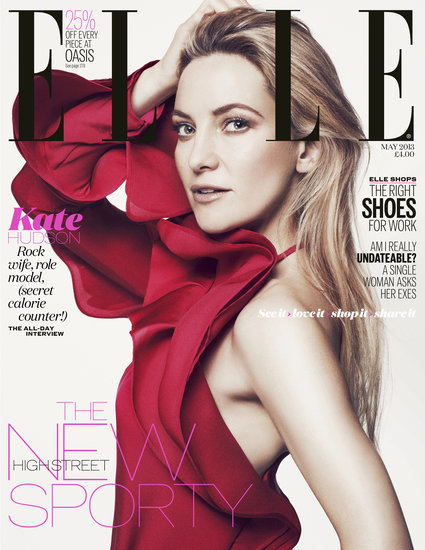 Kate Hudson covers the May 2013 issue of Elle UK. Full interview appears in the May issue of Elle UK, on sale Wednesday, April 3. Also available as a digital edition.