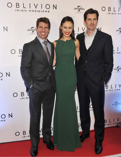 Tom Cruise, Olga Kurylenko, and Joseph Kosinski arrived at the Dublin premiere.