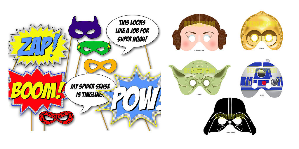 Printable Photo Booth Props For Your Geeky Wedding