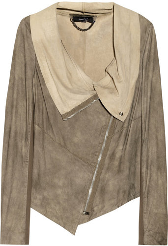 Muubaa Alexis draped suede jacket