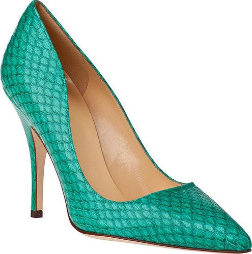 KATE SPADE Licorice Pump Emerald Snake