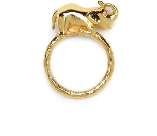 Julie Vos Gold Elephant Ring