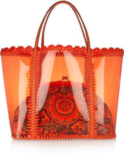 Dolce & Gabbana Miss Escape PVC shopper and canvas shoulder bag