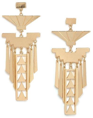 Gold Osiris Earrings