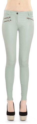 Miki Mint Leather Pants