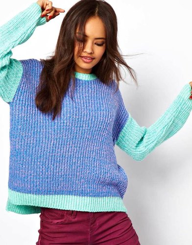 ASOS Sweater In Color Block