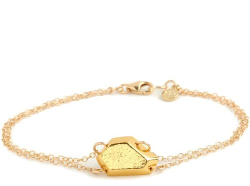 Blake Gem Double Chain Bracelet