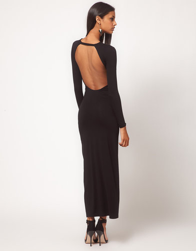 ASOS Maxi Dress with Thigh Split & Scoop Back