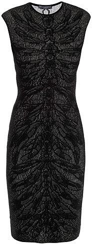 Alexander McQueen Spine lace jacquard knit dress