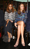 Christine Centenera and Jessica McNamee at Rebecca Vallance's Spring/Summer 2013 season launch in Sydney.