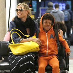 Heidi Klum and Family Back in LA After Drowning Scare