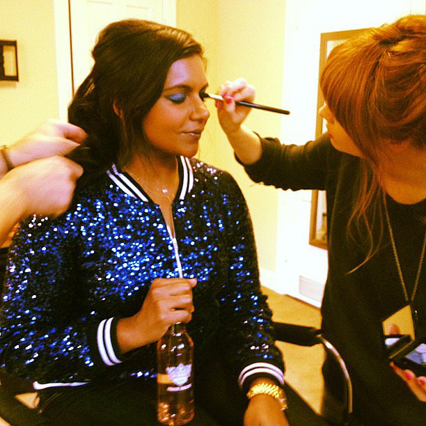 Mindy Kaling got glammed up for a taping of American Idol. Source: Instagram user mindykaling