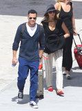 Jessica Alba and Cash Warren landed in St. Barts.