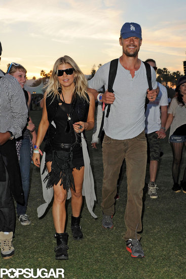 Fergie and Josh Duhamel popped up at the festival on the final day in 2012.