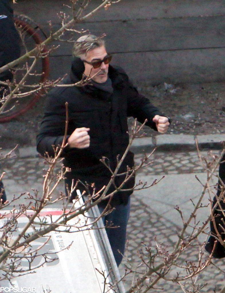 George Clooney and Matt Damon Shoot The Monuments Men in Chilly Berlin