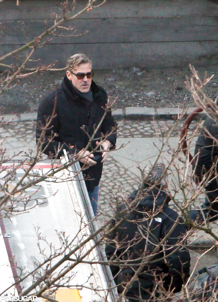 George Clooney directed The Monuments Men in Berlin on Thursday.