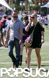 Busy Philipps and her husband, Marc Silverstein, were spotted in the grass during Coachella in 2011.