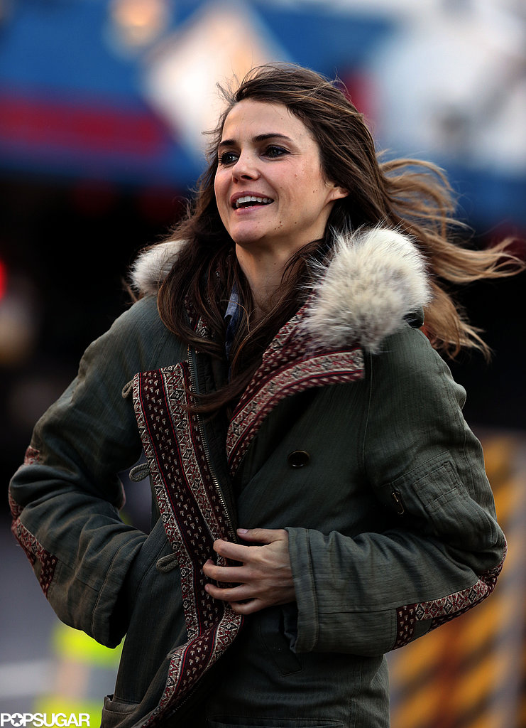 Keri Russell braved the chilly NYC weather.
