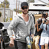 Liam Hemsworth Gives a Thumbs-Up Amid Miley Cyrus Drama