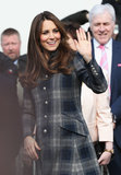 Kate Middleton waved at her fans.