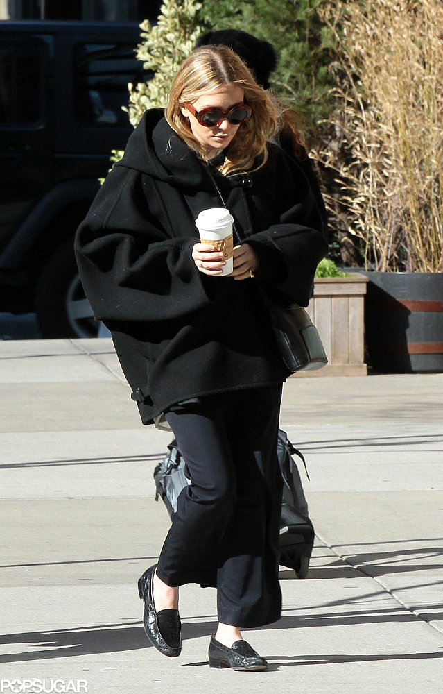Mary-Kate Olsen carried a coffee in Tribeca.