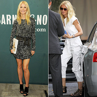 Gwyneth Paltrow Promotes Cookbook in Printed Dress