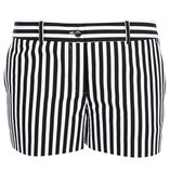 These Michael Kors striped shorts ($603) are right in line with Spring's black and white trend. Make them pop with a bright tank and nude sandals.
