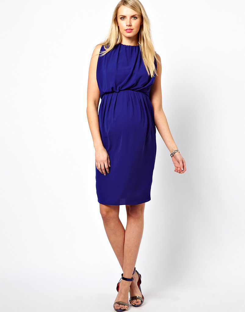 ASOS Maternity Midi Dress With Ruching