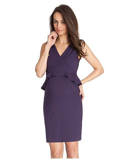 Seraphine Maternity Peplum Dress