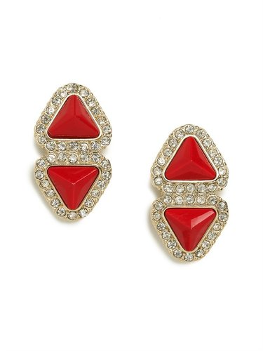 Red Double-Triad Studs