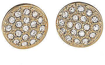 LAUREN RALPH LAUREN Gold-Tone Pave Crystal Stud Earrings