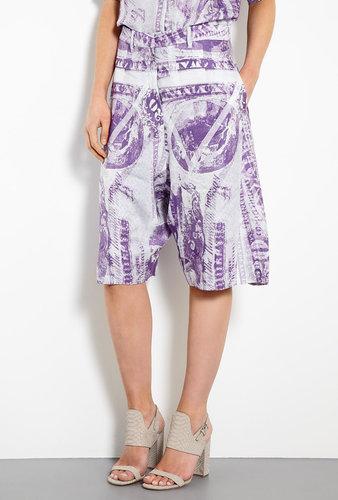 Acne Karma S Currency Print Long Shorts
