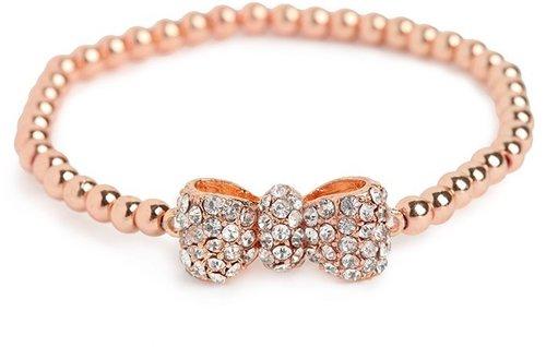 Rose Bow Bead Bracelet