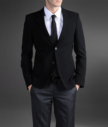Jacket In Stretch Pique With Lapels