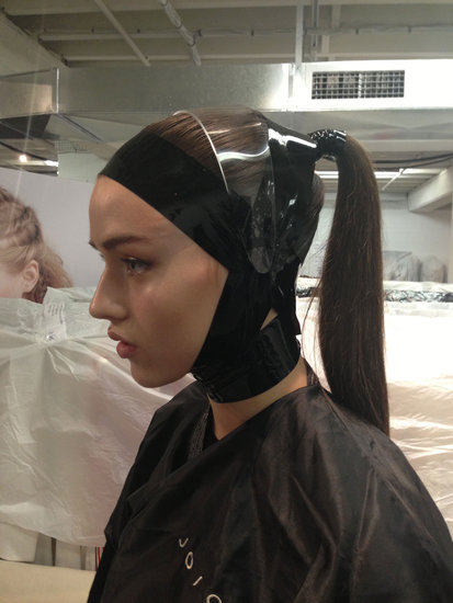 Bondage Tape & Structured Ponytails For Carla Zampatti