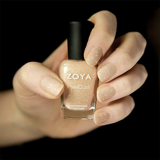 Looking for the next new polish to add to your collection? Of all our favorite new polishes for April, Zoya's textured glittering nude was the most popular on Pinterest.